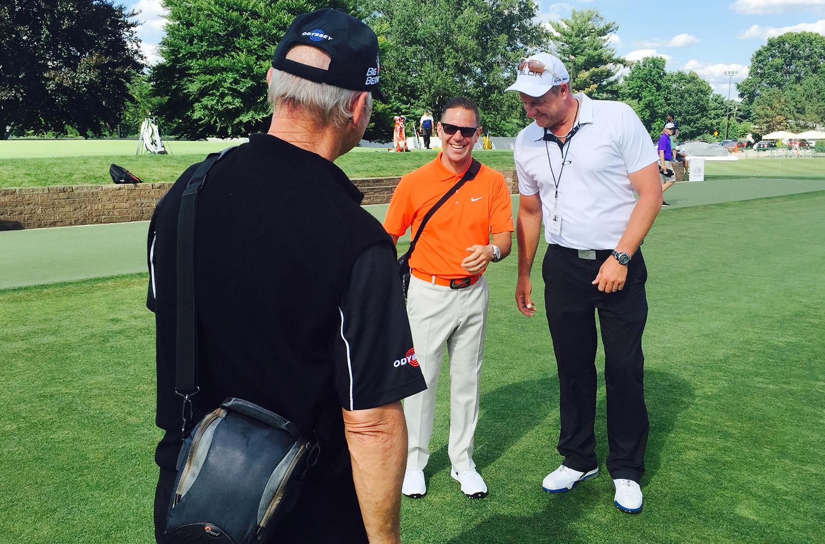 Craig Hanson mit Sean Foley und Peter Cowan